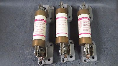 Gould Shawmut (3 Pack) 250 Amp Time Delay Fuse # Trs250R & Load Block # 17-13839