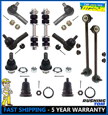 Front & Rear Steering Kit Ball Joints Tie Rods Sway Bars For 00-04 Nissan Xterra