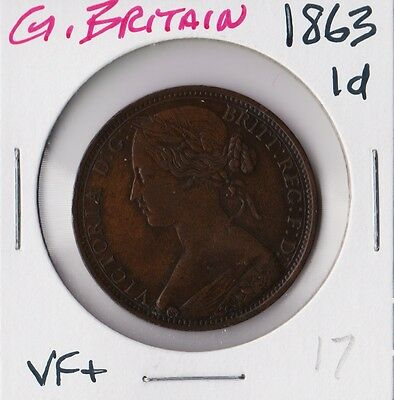 GREAT BRITAIN 1863 | PENNY 1d | VF+