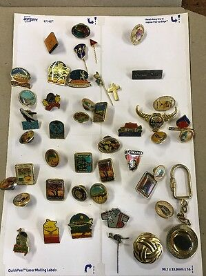 Hat Badges And Lapel Pins Nice Collection Australians Approx 46 Pcs