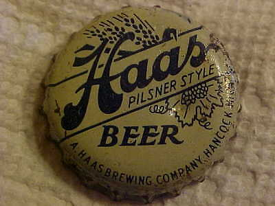 Haa's Beer Hanock Michigan Cork Lined Beer Bottle Cap Crown