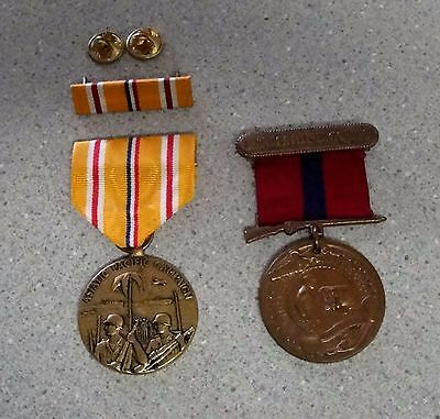 Ww2 Marines Good Conduct Medal & Marines Asiatic Pacific Campaign Medal