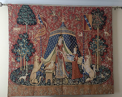 The Lady & Unicorn Fine Art Tapestry Wall Hanging - DESIRE (Large), UK SELLER