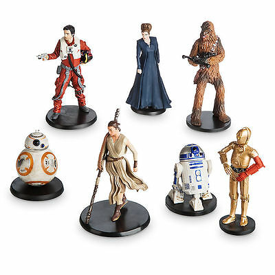 STAR WARS TFA RESISTANCE  Loose Disney Figures Rey,  BB-8, C-3PO