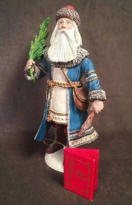 """Beautiful Vintage 12"""" Russian Santa by Duncan Royale Stamped 1983"""