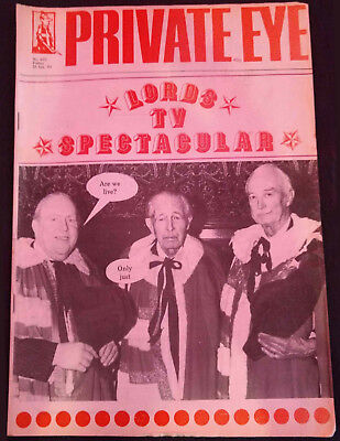 Private Eye Magazine #602, 1985, Lords TV Spectacular #B478