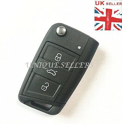 "3 Button Replacement Key Case For VW GOLF 7 GTI MK7 ""WITH LOGO"""