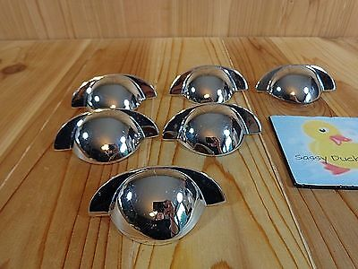 "VINTAGE DRAWER PULLS Lot of 6 Polished Chrome KBC 43865 3"" Centers 1993"