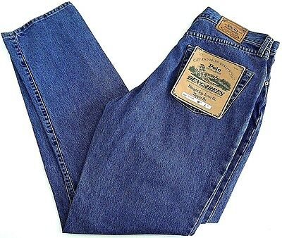 NOS VINTAGE POLO DUNGAREES Ralph Lauren denim jeans mens 35x34 MADE IN USA NWT