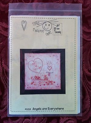 DMC Stitchery Pattern- NEW- Angels Are Everywhere....by Kate Hampson