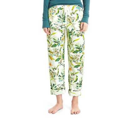 New Womens Gap Print Roll-Tab Sleep Pajama Lounge Pants Butterfly Botanical Milk