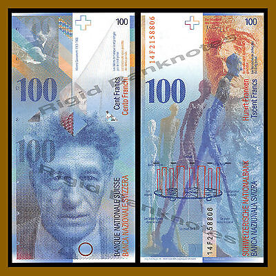 Switzerland 100 Francs, 2014 P-72 Unc