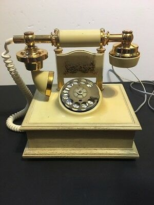 French Princess Cradle Telephone Rotary Dial Northern Telecom Vintage Deco