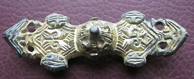Authentic Ancient Artifact > Viking Gilt Equal-Arm Brooch with Beast Heads VK 84