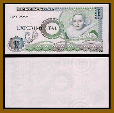 England Experimental Test Note,Test Die One (IBNS Overprint Uniface) Unc