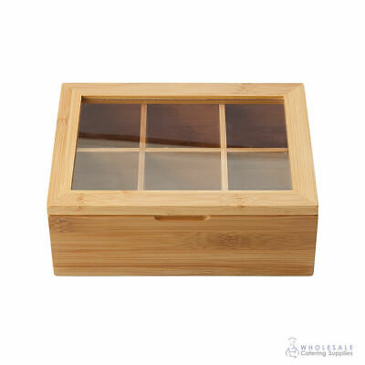 Tea Box with 6 Compartments Bamboo Maxwell & Williams Bamboozled Wooden Storage