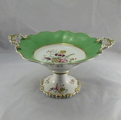"""Stunning Antique 19th Century Continental English Porcelain Serving Compote 13"""""""