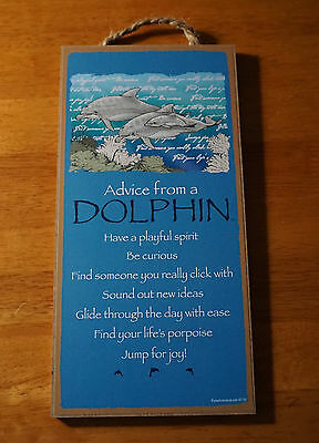 ADVICE FROM A DOLPHIN - FIND LIFE'S PORPOISE JUMP FOR JOY Beach Home Decor Sign