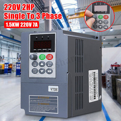 1.5KW 2HP 220V Single Phase Variable Frequency Inverter Drive VSD VFD AUS Gray