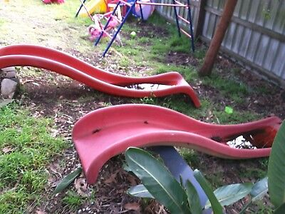 red slide approx 2.8m outdoor
