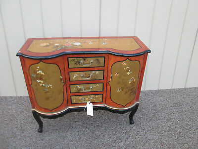 57761 Decorated Oriental Server Cabinet