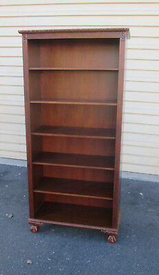 57677  Open Cherry  Bookcase Curio with Claw foot