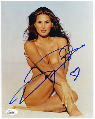 (SSG) Hot DAISY FUENTES Signed 8X10 Topless Photo with a JSA (James Spence) COA
