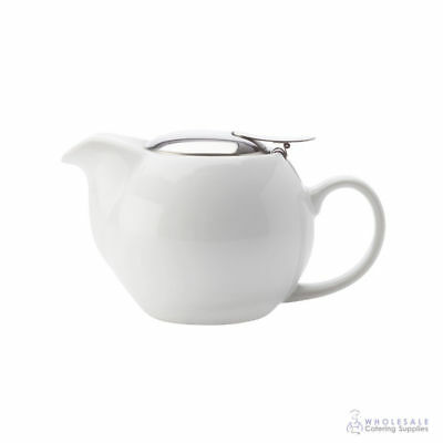6x Teapot 350mL White Maxwell & Williams Cafe Culture Pot Brew Tea Leaf Infuser