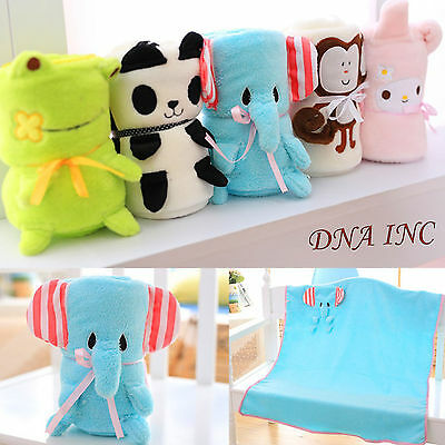 """NEW Cute Soft Kids Baby Animal Plush Blanket 40"""" x 31"""" For Infants/Toddlers"""