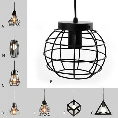 Retro Vintage Iron Pendant Lamp Indoor LED Lights Hanging Ceiling Wall lights