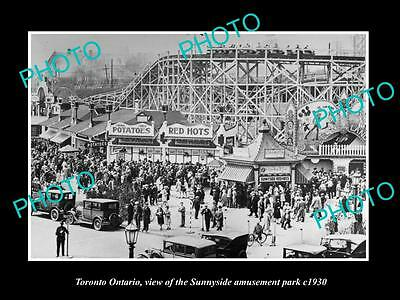 Old Large Historic Photo Of Toronto Ontario, The Sunnyside Amusement Park 1930 1