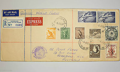 Australian Berridale NSW Qantas World Flight Air Mail Pre Decimal Envelope 1958