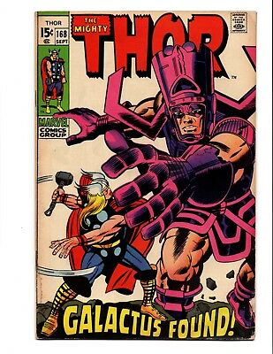 Thor 168 Origin Of Galactus Key Vg/fn To Fn Kirby Art