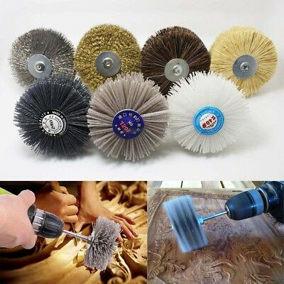 6mm Shank 80mm Dia Any Grit Abrasive Wheel Brush Polishing Tool For Stone Wood