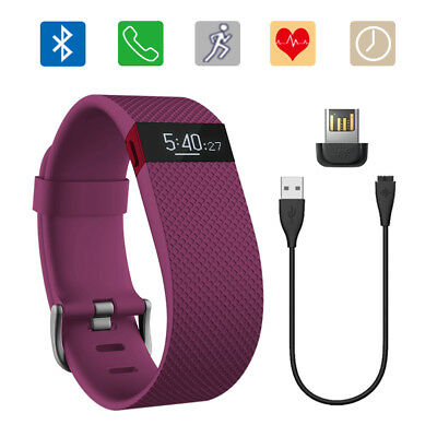 Fitbit Charge HR Heart Rate + Activity Band Wristband Bluetooth plum Large