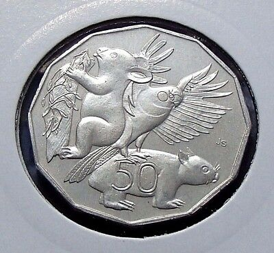 2004 Australian Fifty 50 Cent Coin - Student Design - Uncirculated - Ex Roll