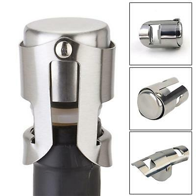 Pro Stainless Steel Champagne Sparkling Wine Bottle Sealer Stopper Plug 6A