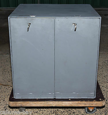 LARGE Safe Box Dual Locking Compartments, Key Access Home or Office Security