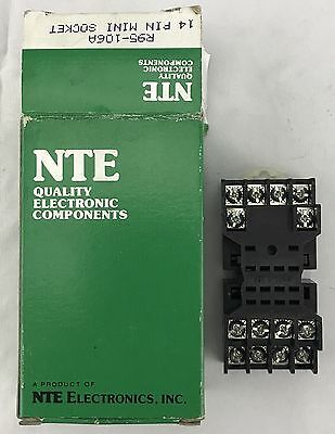 NTE Quality Electronic Components Miniature Relay Socket 14 Pin Mini R95-106A