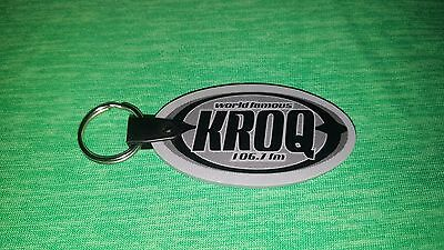 World Famous KROQ FM 106.7 New Unused Keychain Key Ring