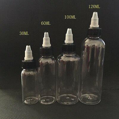 30ml 60ml 100ml 120ml bottle twist cap pet plastic liquid Dropper Bottle