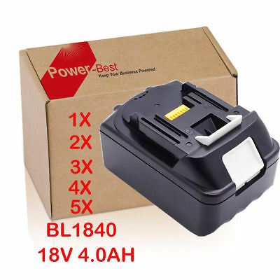 1-5Pcs 18V 4AH Makita Batteria BL1830 BL1840 BL1850,DC18RA DC18RC Li-ion LXT IT