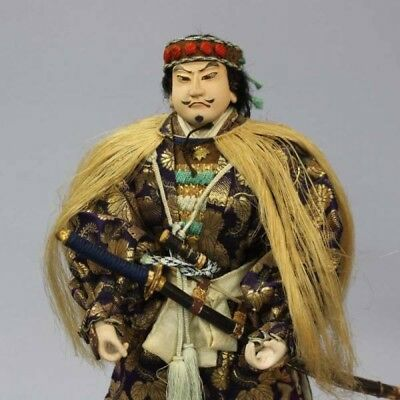1880 Meiji era Kojima Takanori doll Antique Warrior Samurai Kabuki from Japan