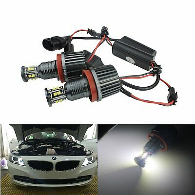 BMW Angel Eyes H8 120W CREE LED Blanc Phare E82 E90 E92 E60 E61 E63 E89 Z4 X5 X6