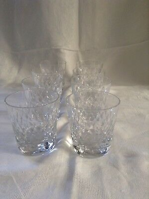 8 Verres A Whisky Baccarat Modele Piccadilly