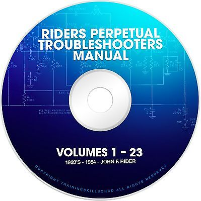 Riders Perpetual Troubleshooters Manual Vols 1-23 Tube Radio Schematics on DVD