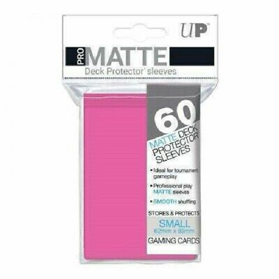 Ultra Pro Deck Protector Small Matte 60 Card Sleeves BRIGHT PINK YuGiOh Vanguard