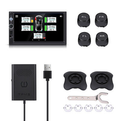 TMPS Auto Car Android Tire Tyre Pressure Monitoring System + 4 External Sensors