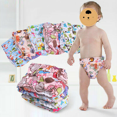 New Baby Infant Adjustable Reusable Baby Washable Printed Cloth Diaper Nappies