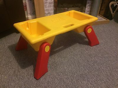 Vintage Lego Folding Play Tray Table Lap Desk Storage 6787 - Missing Covers